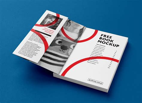 Free A4 Paperback Book Title & Inner Pages Mockup PSD