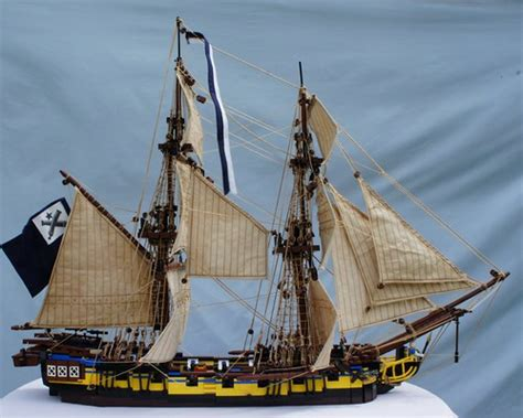 Awesome LEGO Ship MOC with Realistic Sail Rigging