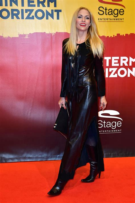 Sonya Kraus attends the red carpet at the Hinterm Horizont