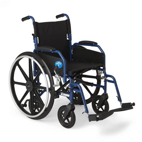 """Medline Hybrid 2 Transport Wheelchair with 18""""Wx 16""""D Seat"""