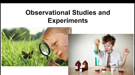 Observational Studies and Experiments - YouTube