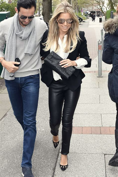 Sylvie Meis seen out in Hamburg - Leather Celebrities