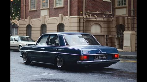 A rainy day with the Benz - Bagged W115 Mercedes Benz
