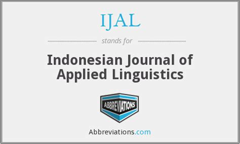 IJAL - Indonesian Journal of Applied Linguistics