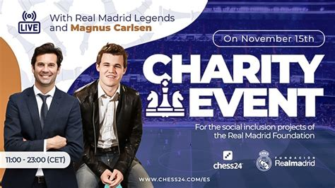 Magnus Carlsen take part in a charity event