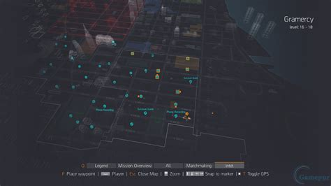 The Division: Gramercy Intel Collectible Location Guide