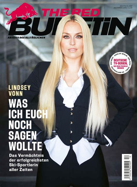 Magazine Covers - Lindsey Vonn for The Red Bulletin