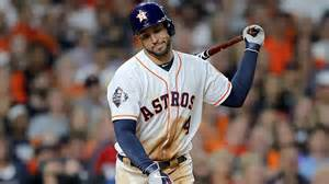 George Springer hears a snippet from the Astros' 2020 road