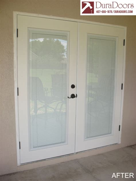 Plastpro French Doors with ODL Enclosed Blinds | DuraDoors