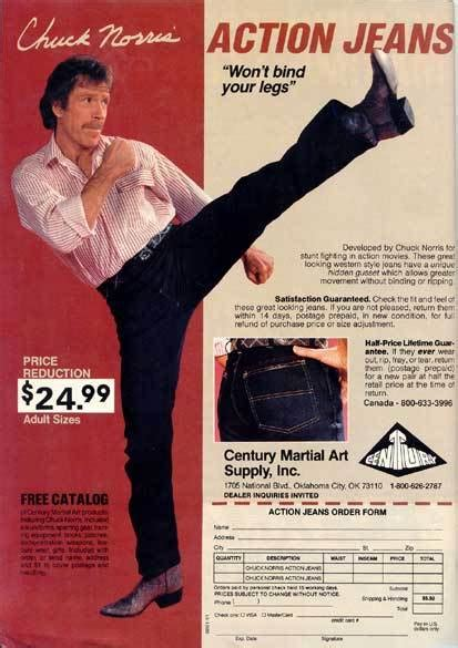 Odd Ads: Chuck Norris' Jeans – History By Zim