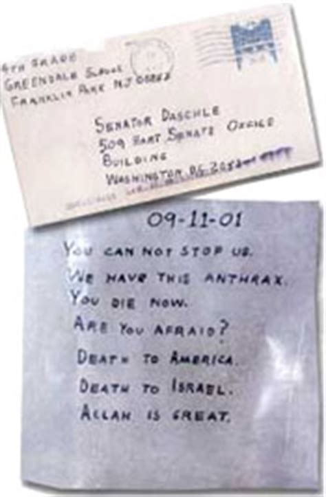 Anthrax Laced Letter Received